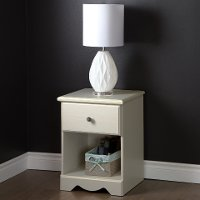 9031062 White 1-Drawer Nightstand - Country Poetry