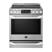 LSSE3026ST LG STUDIO 30 Inch 6.3 cu. ft. Large Capacity Electric Slide-in Range - Stainless Steel