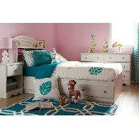 9031080 White Twin Mates Bed with Drawers (39 Inch) - Country Poetry