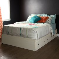9031211 White Full Mates Bed with 3 Drawers (54 Inch)- Country Poetry