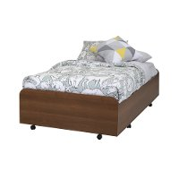9055082 Cherry Twin Trundle Bed on Casters (39 Inch) - Mobby