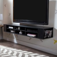 4147677 Black Oak Wall-Mounted Media Console (66 Inch) - City Life