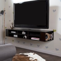 4419677 Chocolate Wall-Mounted Media Console (66 Inch) - City Life
