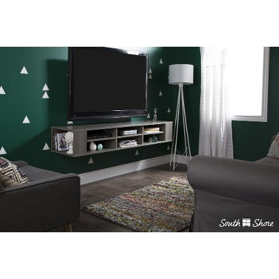 City Life Gray Maple WallMounted Media Console RC Willey