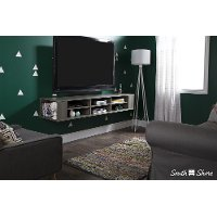 9042677 Gray Maple Wall-Mounted Media Console (66 Inch) - City Life