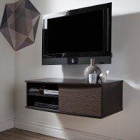 9028674 Chocolate/ Zebrano Media Console (38 Inch) -Agora