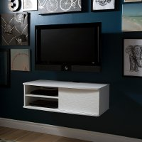 9029674 White Wall-Mounted Media Console (38 Inch) - Agora