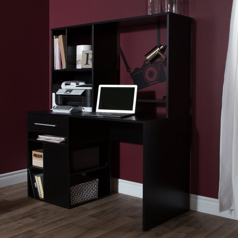 Black Home Office Computer Desk - Annexe