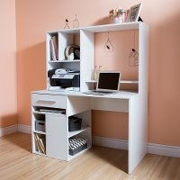 9053070 White Home Office Computer Desk - Annexe