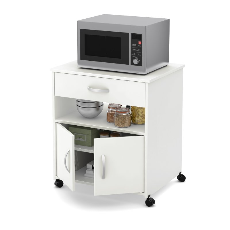 White Microwave Cart Fiesta Rc Willey Furniture Store