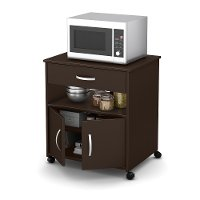 10014 Chocolate Microwave Cart - Fiesta