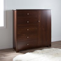 3156045 Cherry Door Chest with 5-Drawers - Vito