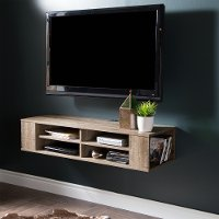 9062675 Weathered Oak Wall Mounted Media Console (48 Inch) - City Life