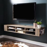 9062677 Weathered Oak Wall Mounted Media Console (66 Inch) - City Life