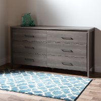 9036010 Gray Maple 6-Drawer Double Dresser - Gravity