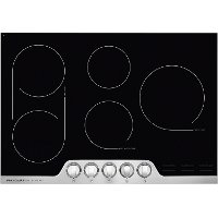 FPEC3077RF Frigidaire Professional 30 Inch Smoothtop Electric Cooktop - Black and Stainless Steel