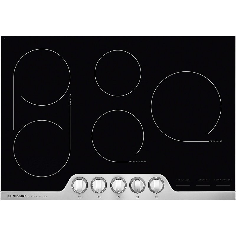 Frigidaire Professional 30 Inch Smoothtop Electric Cooktop Stainless Steel Rc Willey Furniture