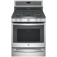 P2B940SEJSS GE Profile Series 30 Inch 5.6 cu. ft. Dual Fuel Range with Warming Drawer - Stainless Steel