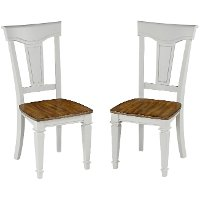 Set of 2 White Dining Chairs - Americana