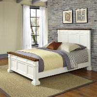 Classic White Queen Bed - Americana