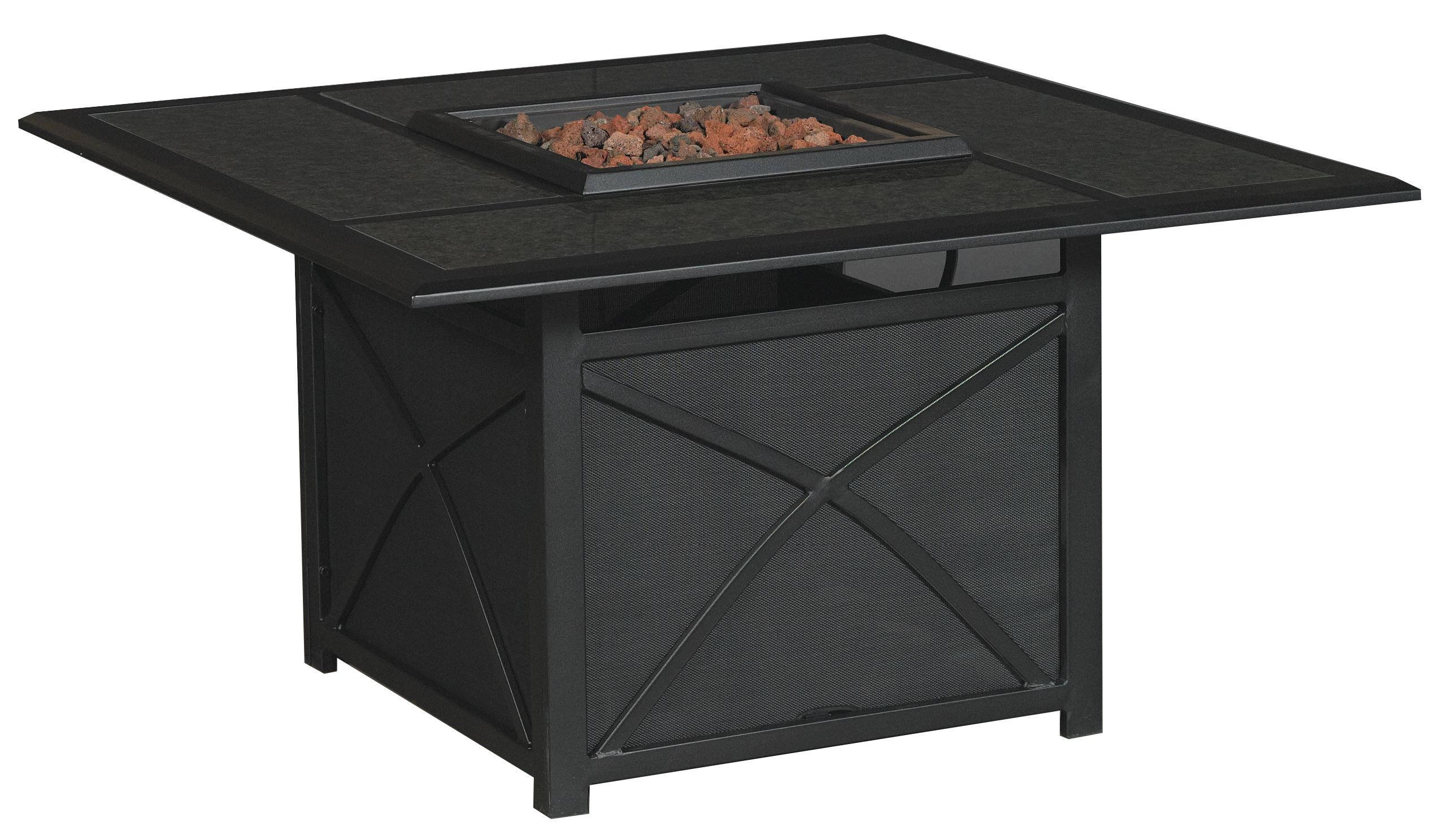 Revere Collection Outdoor Patio 5 Piece Fire Pit Set
