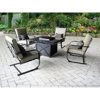 TGS46GE,KFS834K,KIT 5 Piece Outdoor Patio Fire Pit Patio Set - Revere