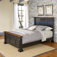 Classic Black Queen Bed - Americana