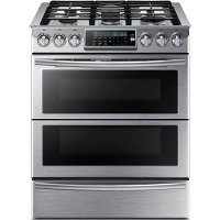 NY58J9850WS Samsung Dual Fuel Range - 5.8 cu. ft. Stainless Steel