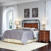 Cherry Queen/Full Headboard & 2 Nightstands - Richmond Hill