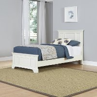 White Twin Bed - Naples