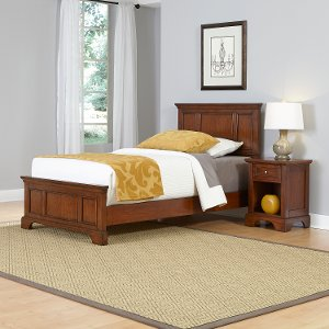 chesapeake cherry twin bed and nightstand free shipping