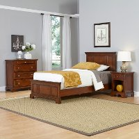 Cherry Twin Bed, Nightstand, and Chest - Chesapeake