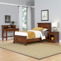 Cherry Twin Bed, Nightstand & Student Desk with Hutch - Chesapeake