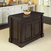 Black Oak Wood Top Kitchen Island - Prairie