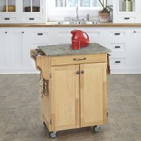 Natural Cuisine Cart with Concrete Top - Create-a-Cart