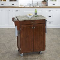 Cherry Cuisine Cart with Concrete Top - Create-a-Cart