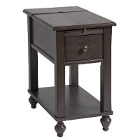 Smokey Brown Chair Side Table - Peterson