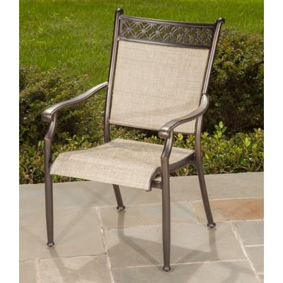 agio manhattan collection patio sling dining chair