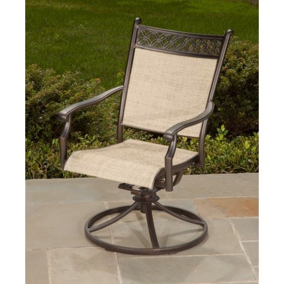 Outdoor Sling Swivel Rocker Patio Chair Manhattan Rc Willey Furniture