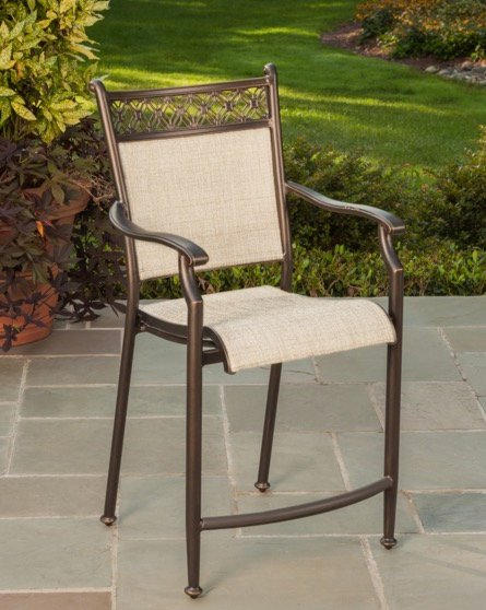 24 Inch Patio Outdoor Bar Stool   Manhattan