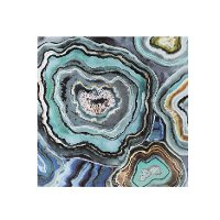 Aqua Agate Canvas Wall Art