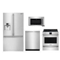 .FRG-PRO-3D-ELE-FRNG Frigidaire Kitchen Appliance Package with Electric Range - Smudge-proof Stainless Steel