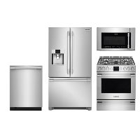 FRG-PRO-FRNG-GAS-KT Frigidaire 4 Piece Kitchen Appliance Package with Gas Range - Smudge-proof Stainless Steel