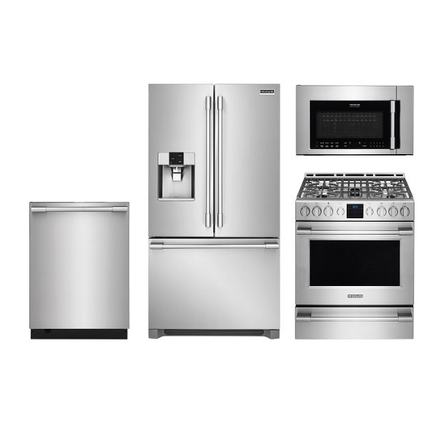 Frigidaire 4 Piece Kitchen Liance Package With Gas Range Smudge Proof Stainless Steel Rc Willey Furniture