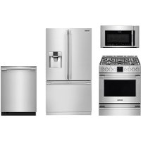 FRG-PRO-24GAS-FRNG Frigidaire 4 Piece Kitchen Appliance package with Gas Range - Stainless Steel