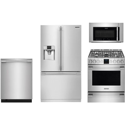 frigidaire stainless steel 4 piece kitchen appliance package with gas range frigidaire stainless steel 4 piece kitchen appliance package with      rh   rcwilley com