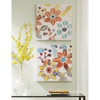 Assorted Multi Color Sweet Floral Canvas Wall Art