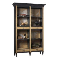 Oak and Charcoal Two-Tone Open Bibliotheque