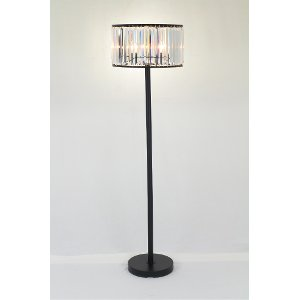 black u0026 crystal floor lamp