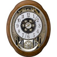 Oak Joyful Meditation Musical Wall Clock
